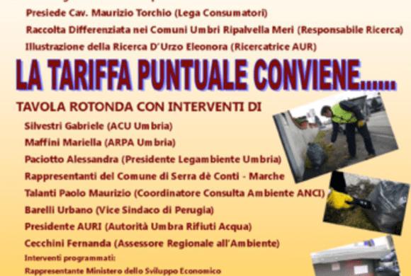 Tariffe e servizio gestione rifiuti in Umbria: evento il 13 aprile con la partecipazione attiva di A.C.U. Umbria