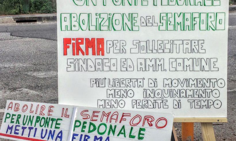 Sabato 4 Giugno ore 12 Conferenza Stampa per l'abolizione del semaforo di Via Cortonese