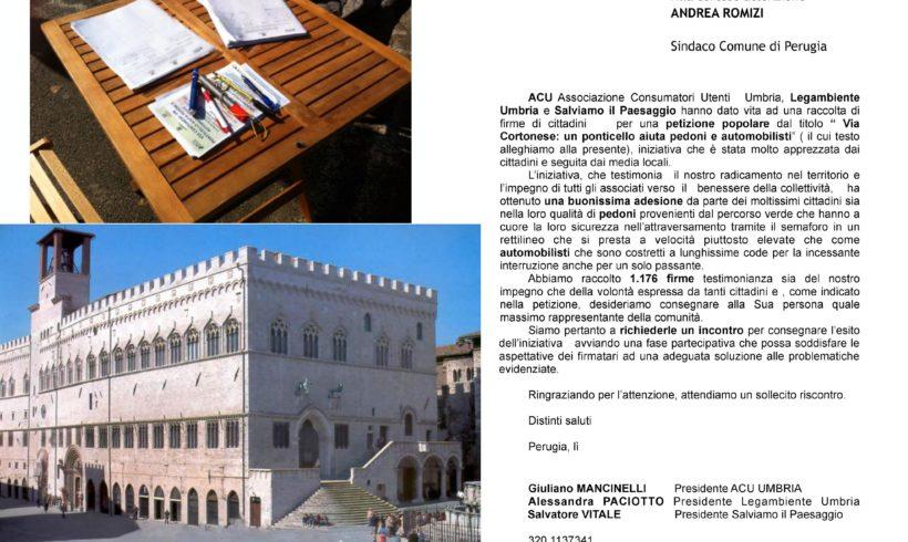 Ponticello di Via Cortonese: Lettera al Sindaco
