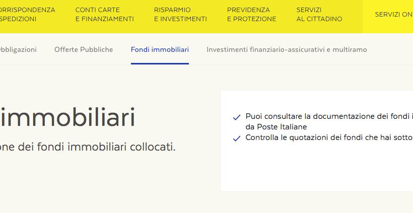 Hai acquistato anche tu fondi immobiliari Poste Italiane? Da oggi puoi richiedere il rimborso