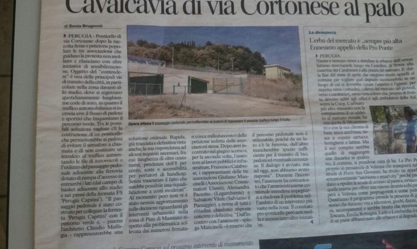 Corriere dell' Umbria: Iniziativa Ponticello in Via Cortonese a Perugia