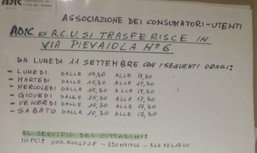ADiC (ex-Acu Umbria) SI TRASFERISCE IN NUOVA SEDE